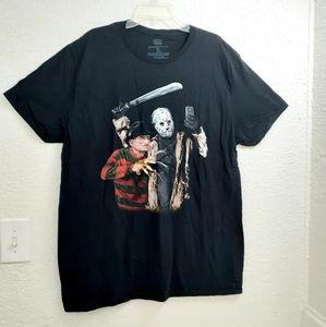 Freddy Krueger And Jason Color Selfie Horror